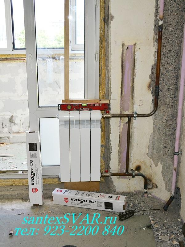 Замена радиаторов отопления на газосварке