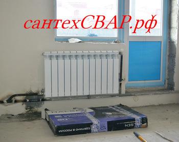 При диагональном подключении радиатора низ холодный